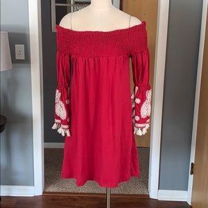 Off the shoulder boho style dress